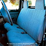 A25 Toyota Pickup Front Solid Bench Blue Seat Covers, Triple Stitched with 8mm Extra Thick Padding, Molded Headrests, Seat Belt Cutout, Small 2