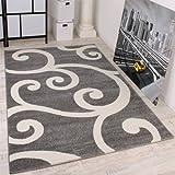 Designer Teppich Muster in Grau Weiss Top Qualität zum Top Preis!!