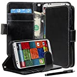 Moto X Case, Moto X (2nd Gen.) Case, E LV Motorola Moto X+1 Flip Case Cover - Deluxe PU Leather Flip Wallet Case...