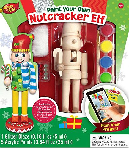 Masterpieces Works of Ahhh Nutcracker Elf Large Wood Paint Kit (Wood Elf compare prices)