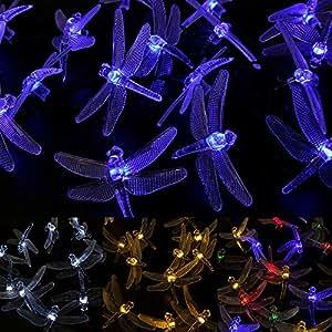 Amazon.com : WYZworks Solar Fairy String Lights LED DRAGONFLY (Blue) - 20 LEDs : Patio, Lawn ...