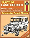 Toyota Land Cruiser FJ40  43 45  55   60   68 82  Haynes Manuals