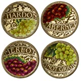 Grasslands Road in Vino Veritas Ceramic Accent Plate Assortment 8-Inch
