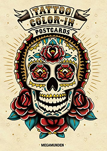 Tattoo Color-In Postcards