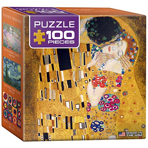 EuroGraphics Klimt - The Kiss (Der Kuss) Mini Puzzle (100-Piece) - 1