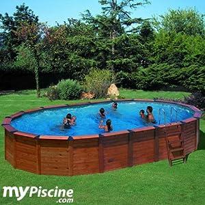 Piscina gre nature pool hawaii (madera+acero) 7,50x4,25x1,32m KITNPOV731