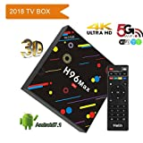 Android Box, 2018 new item H96 MAX H2 Android 7.1 TV BOX with RK3328 Quad Core Support 2.4G/5G Dual Wifi/100M LAN/BT 4.0/3D /H265 Smart TV Box