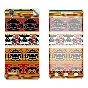 Skintice Designer Vinyl Skin Sticker for Oppo F1, Design - mask pattern