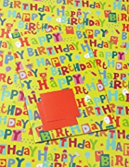 2 Bright Happy Birthday Sheet Wrapping Papers
