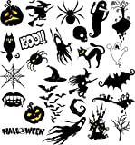 HALLOWEEN WATER NAIL TRANSFERS DECALS STICKERS X50 MEGA ART SET #653 PARTY GHOST CARVED PUMPKIN SPOOKY BAT WITCH FIGURE SKULL VAMPIRE FANGS OWL HAUNTED HOUSE TREE CAT SPIDER GRAVEYARD BOO! WORDING LETTERING! CAN BE USED WITH NATURAL GEL ACRYLIC STICK ON