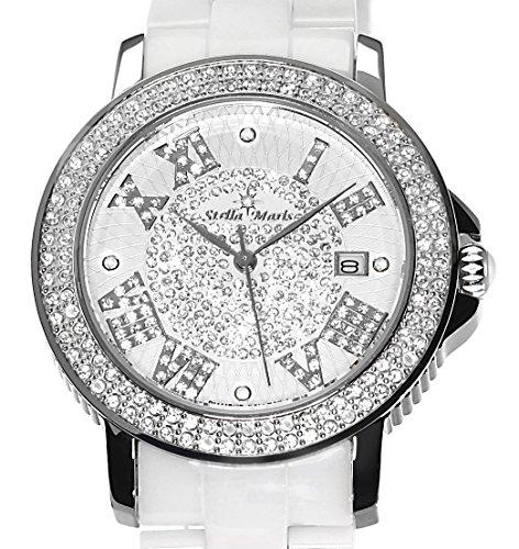 stella maris damen armbanduhr analog quarz premium keramik diamanten stm15p1 uhren. Black Bedroom Furniture Sets. Home Design Ideas