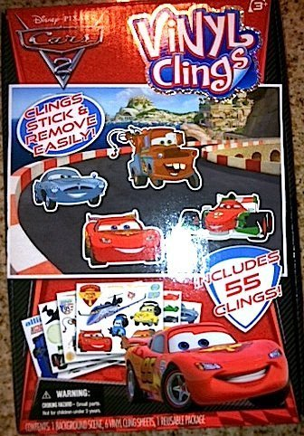 Disney Pixar Cars 2 Vinyl Clings