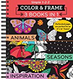 img - for Color & Frame Coloring Book - 3 in 1 - Animals, Seasons & Inspiration book / textbook / text book