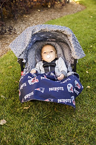 NFL New England Patriots The Whole Caboodle 5PC set - Baby Car Seat Canopy with matching accessories