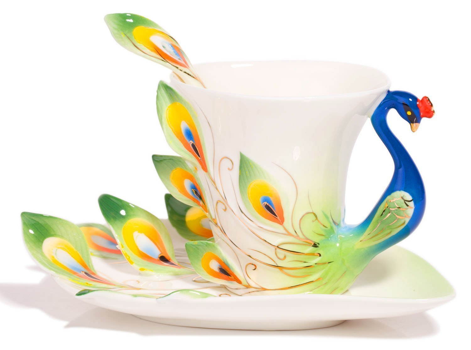 40 Beautiful Peacock Tea Cups Bowls And Centerpieces