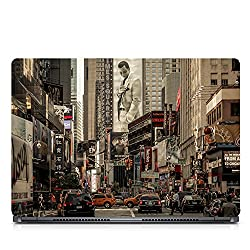 Inktree Vinyl Wallstreet Matte Finish Adhesive Laptop Skin (15 inch x 10 inch, Mulicolor)