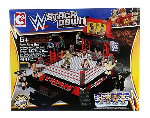 c3-construction-ww-stackdown-universe-raw-ring-set-with-4-wwe-superstars