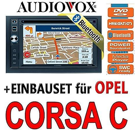 Opel corsa c argent/6020 audiovox vXE nAV navigationsradio uE autoradio navi dVD avec écran tFT bluetooth