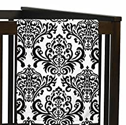 Plush Fleece Throw Receiving Crib Baby Girl Blanket for Black and White Isabella Collection