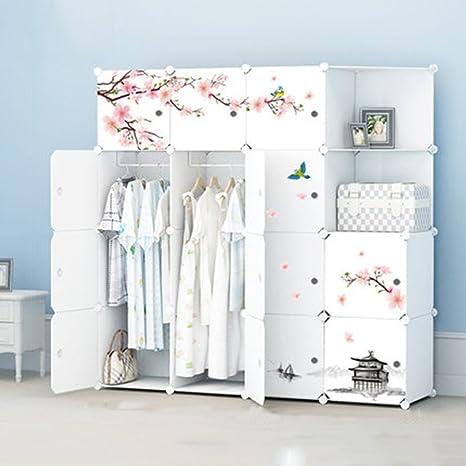 Cqq Kleiderschrank Kleiderschrank Kunststoff Montagekombination Falten Einfache Moderne Lagerung Locker ( design : D )
