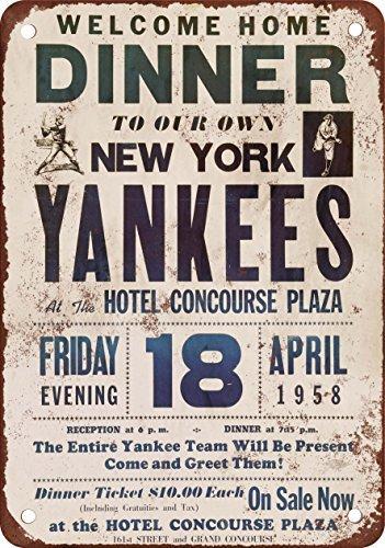 1958-welcome-home-new-york-yankees-look-vintage-reproduction-plaque-en-metal-203-x-305-cm