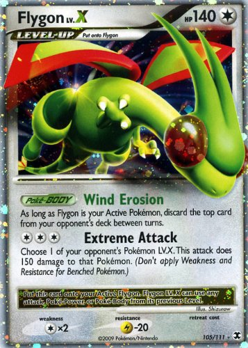 Pokemon Platinum Rising Rivals #105 Flygon Lv.X Ultra Rare Card [Toy]