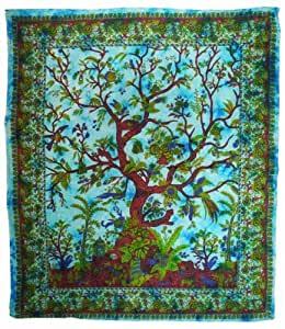 handicrunch tree of life tapestry home kitchen. Black Bedroom Furniture Sets. Home Design Ideas