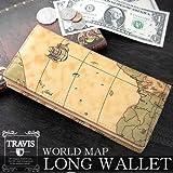 あなただけの世界地図柄 かっこいい長財布 8201060