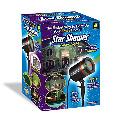 Star Shower Outdoor Laser Christmas Lights, Star Projector