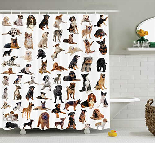Dog Shower Curtains Kritters In The Mailbox Animal Store