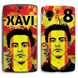Bluegape LG Naxus 5 D821 Xavi Football Player Phone Skin Cover, Brown