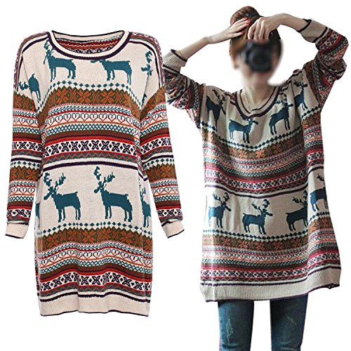 vogue-of-eden-womens-oversized-christmas-reindeer-snowflake-pullover-sweaters