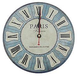 Usmile 12 Vintage Roman Numeral Design Wooden Wall Clocks Decorative wall clocks Retro wall clocks large wall clocks