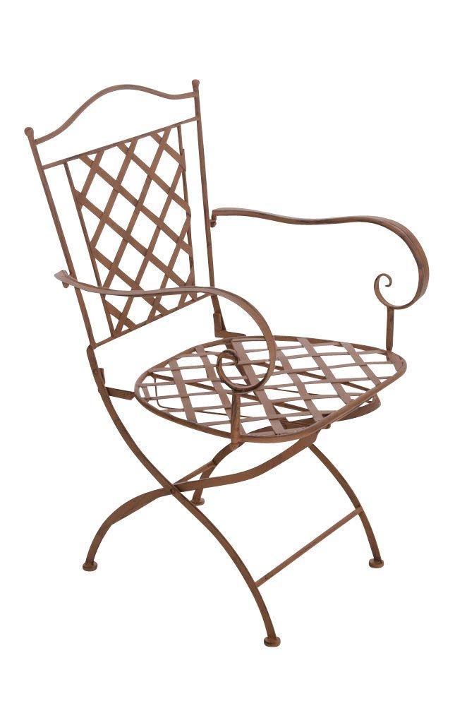 CLP nostalgischer Stuhl ADARA aus Eisen (aus bis zu 6 Farben wählen) antik-braun günstig kaufen