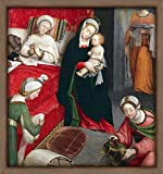 WallsnArt, Figurative Modern Framed Art Work Painting With out glass,Birth Of St John Baptist, By Defendente Ferrari (1480-Ca 1540)