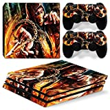 FriendlyTomato PS4 Pro Console and DualShock 4 Controller Skin Set - Mortal Fight - PlayStation 4 Pro Vinyl