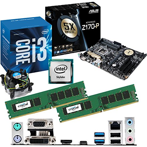 Intel Skylake Core I3 6100 3.7ghz, Asus Z170-p Cpu & Motherboard Bundle (16gb Ddr4 2133mhz) Picture