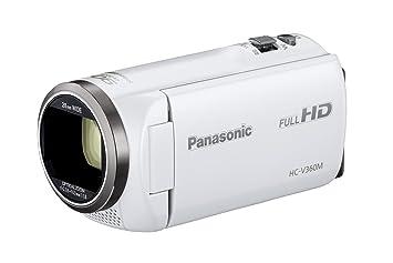【クリックでお店のこの商品のページへ】Panasonic HDビデオカメラ V360M 16GB 高倍率90倍ズーム ホワイト HC-V360M-W: カメラ・ビデオ