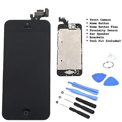 for iPhone 5 5G Black Full Set