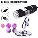 Smileyyi Digtal Electronic Microscope 1600x USB Digital Microscope USB Endoscope Camera 8PCS Mini Led Compatible with Mac Window 7 8 10 Android Linux Etc