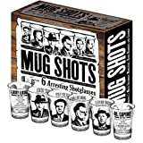 Mug Shots - Shot Glass Set Featuring Famous Gangsters