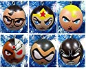 "DC Comics 6 Piece Holiday Christmas Ornament Set Featuring Clark Kent, Wonder Woman, Batman, Green Arrow, Aquaman and Cyborg - Shatterproof Plastic Ornaments Range from 2"" to 2.5"""