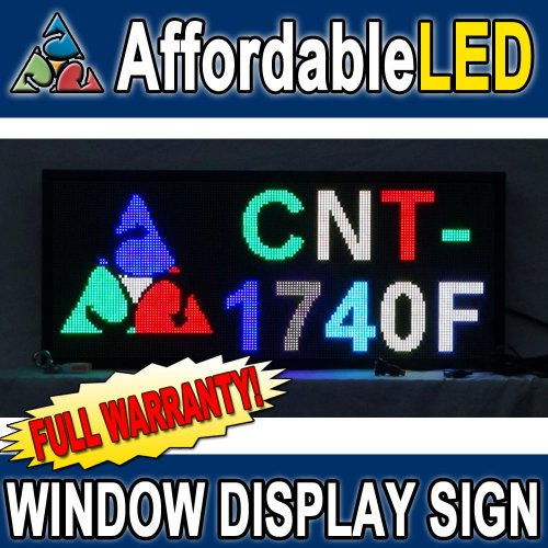 Programmable Scrolling Led Sign - Indoor Display - 17 Inch (H) X 40 Inch (W) (Multi-Color)
