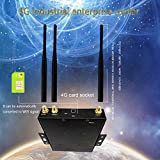 2018 New US VERSION 4G LTE Router, Wireless Industrial Router Modem All In One,AT&T,T-Mobile LTE Advanced Cellular Modem,Embedded Sim Card,Unlocked,Dual Band,Up to 35 users