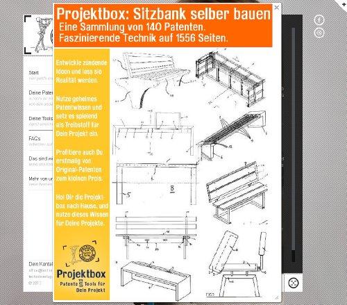 sitzbank selber bauen deine projektbox inkl 1556 seiten original patente bringt dich mit spa. Black Bedroom Furniture Sets. Home Design Ideas