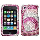 Peacock Woven Diamante Crystal Protector Cover for Apple iPhone 3G / 3GS ATandT