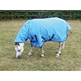 Mark Todd Mediumweight Pony Combo Turnout Rug: Ocean Blue/Navy: 5ft 0inch