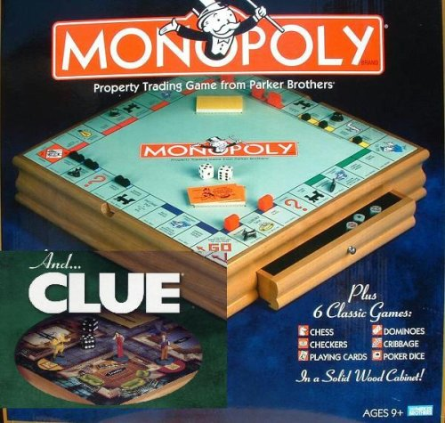 Buy Parker Brother Hasbro Wooden Board Games, Monopoly, Clue Plus 6 Other Board Games