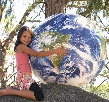 Giant Inflatable Globe front-302915