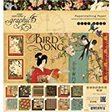 Graphic 45 Bird Song 8 by 8-Inch Pad